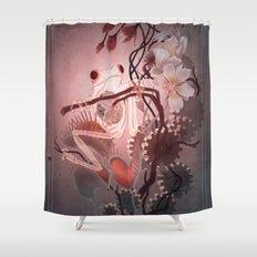 Clockwork Frog Shower Curtain