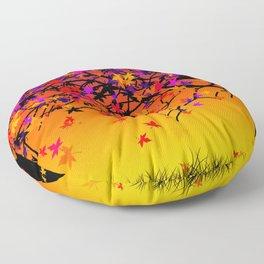 The Scent Of Halloween Autumn Tree Floor Pillow