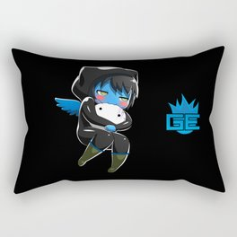 Fuzzy Chibi Luc (Expression 2) w/ Black Background (no cloud) Rectangular Pillow