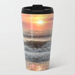 Painted Waves Travel Mug