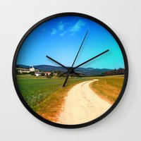 hiking Wall Clocks featuring Another lonely hiking trail by Patrick Jobst
