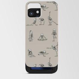 Skeleton Yoga iPhone Card Case