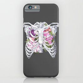 Floral Ribcage iPhone Case