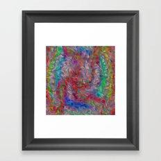 Tangled Colors Framed Art Print
