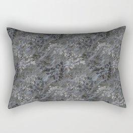 Fern Fossils in Grey Slate Pattern Rectangular Pillow