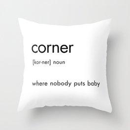 Corner Definition Throw Pillow