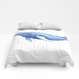 Humpback Whale Watercolor Animal Painting Nursery Animals Comforters
