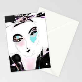Akemi  Japan woman Kimono Stationery Cards