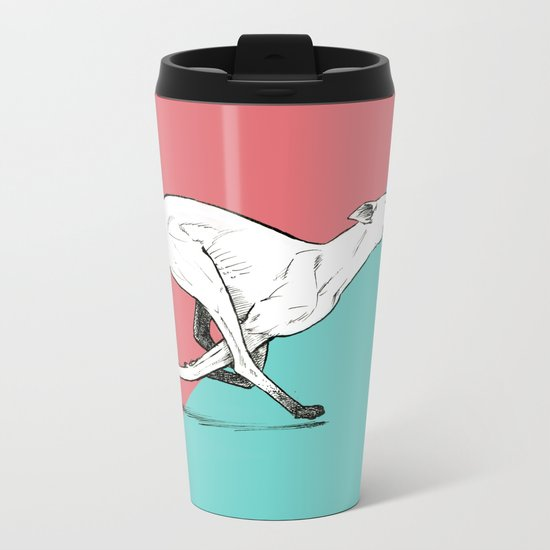 Run Greyhound! Metal Travel Mug