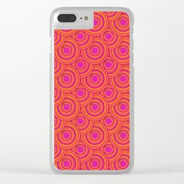 Tropical Parasols Pattern Clear iPhone Case