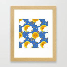 Celestial Kawaii Framed Art Print
