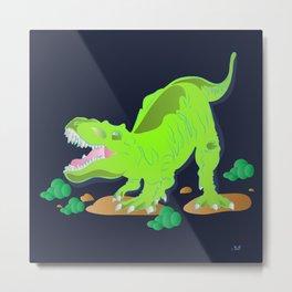 Dino - Bright Metal Print