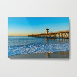 Southside Seal Beach Pier Metal Print