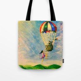 BALLOON LOVE: Flying Away Tote Bag