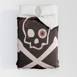 Jolly Roger With Eyeballs Comforters
