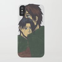 levi iPhone & iPod Cases featuring Eren x Levi by Midnight Zoe