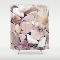 rocks Shower Curtains featuring Rocks by Miranda Crepeau