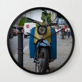 vintage motorbike Wall Clock