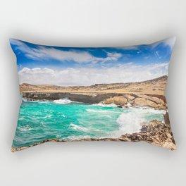 Choppy seas on Aruba's North Shore Rectangular Pillow