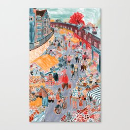 Columbia Road Flower Market Canvas Print