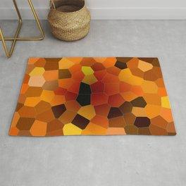Hot Honey Lava Mosaic Pattern Rug