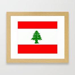Flag of Lebanon Framed Art Print