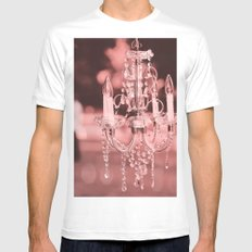 Pink Chandelier Mens Fitted Tee SMALL White
