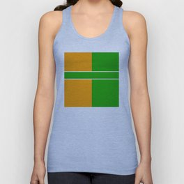 Team Color 6...green,orange Unisex Tank Top