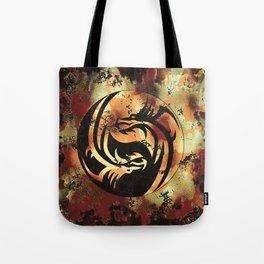 Yin and Yang Dragons Artwork Tote Bag