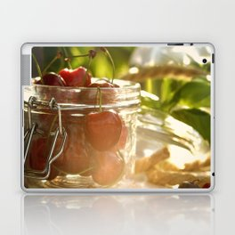 Fresh cherrie in glass Laptop & iPad Skin