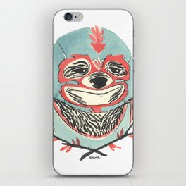 LuchaSloth iPhone Skin