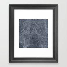 Ab Marb Blue Framed Art Print