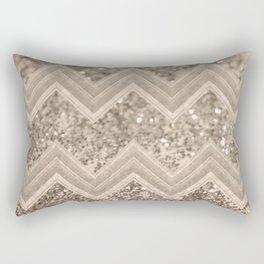 Sepia Glitter Chevron #1 #shiny #decor #art #society6 Rectangular Pillow