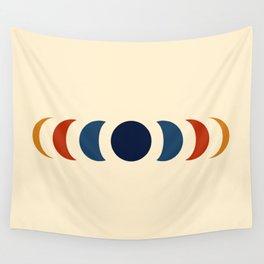 Abstract Minimal Retro Style Moon Phase - Azuma Wall Tapestry