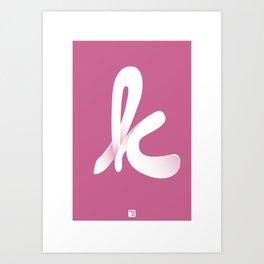 Typographic K Art Print