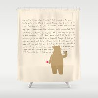 writing Shower Curtains featuring Writing by Sarinya  Withaya