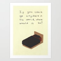 bed Art Prints featuring Bed by Andy Carter