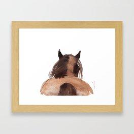 Horse (Mane&tail) Framed Art Print