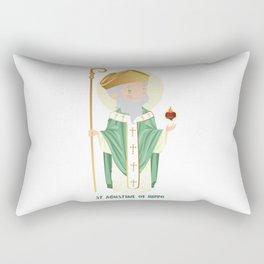 Sait Agustine of Hippo Rectangular Pillow