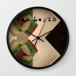 九层糕 - KUEH LAPIS (PERANAKAN DESERT) Wall Clock
