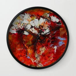 Dancing Flowers Wall Clock