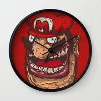 mario Wall Clocks featuring Mario by Lime