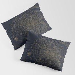 Mt. Shasta, California Topographic Contour Map Pillow Sham