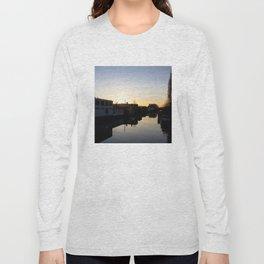 Sunset over an Amsterdam canal Long Sleeve T-shirt
