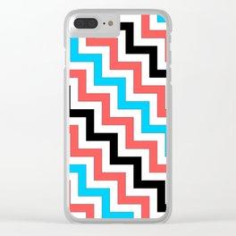Maritime diagonal chevron Clear iPhone Case