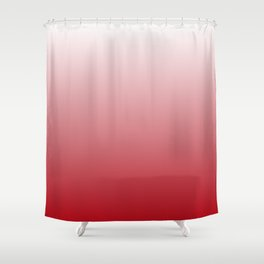Muladhara Chakra Red Ombré Shower Curtain