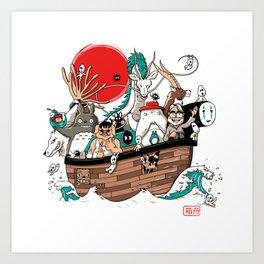 Ark's Miyazaki (version2018) Art Print