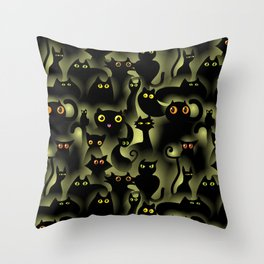 black cat pride Throw Pillow