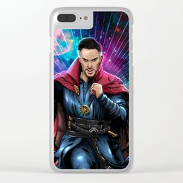 The doctor of the mystic art Clear iPhone Case