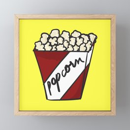 The Popcorn Addict Framed Mini Art Print